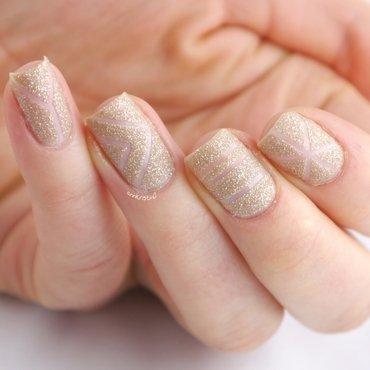 Sand Tape Mani nail art by Ann-Kristin