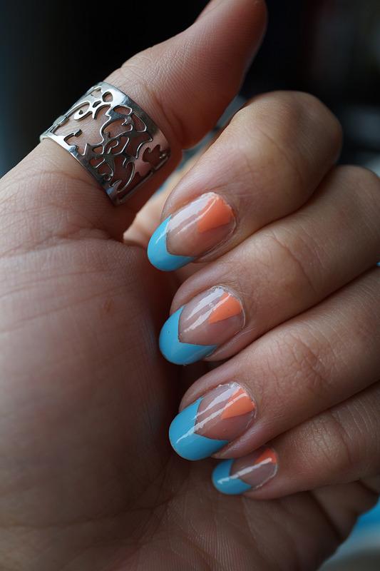 negative space nail art nail art by Cathy Neves