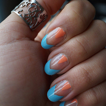 negative space nail art nail art by Cathy Neves