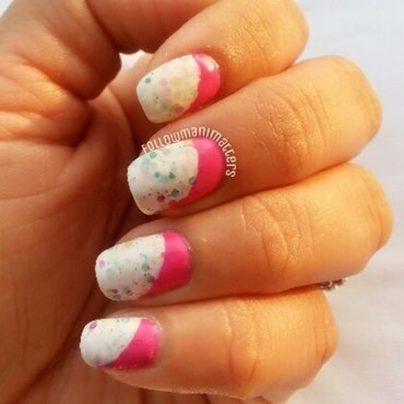 Sideways Ruffian nails nail art by Manisha Manimatters