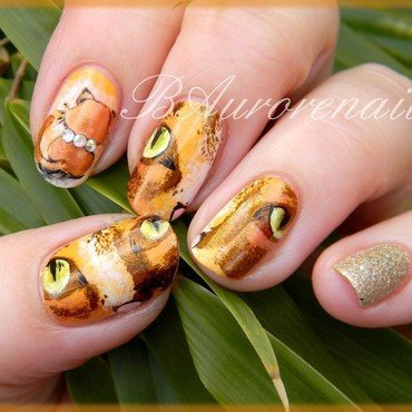 Chat Balou nail art by BAurorenail