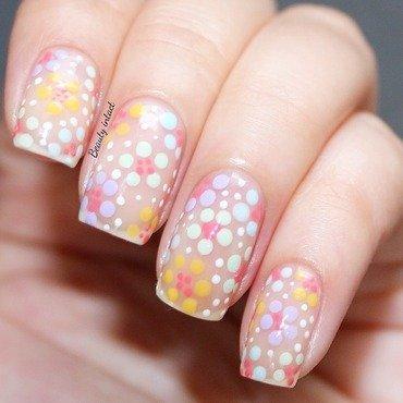 Pastel floral nails nail art by Beauty Intact