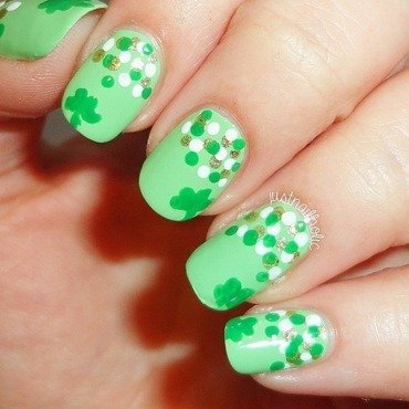 St Patrick's Day! nail art by Melany Antelo