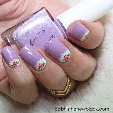 Floral Lace Nail Art  nail art by Polishisthenewblack