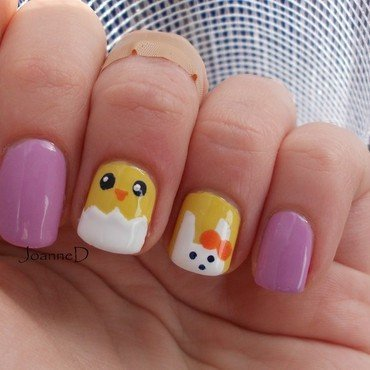 Easter :) nail art by JoanneD