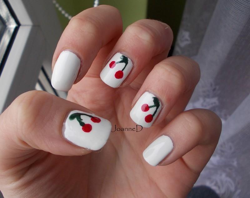 Cherries nail art by JoanneD