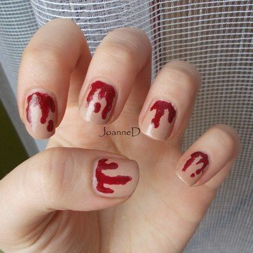 Bloody Halloween nail art by JoanneD