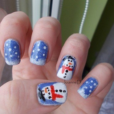 Winter Wonderland nail art by JoanneD