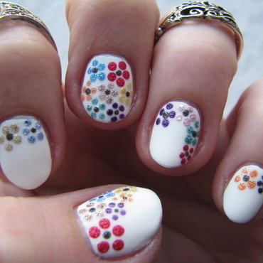 Flower explosion nail art by Nail Crazinesss