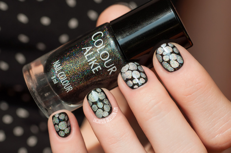 Holo Blobbicure nail art by Lacquered Obsession