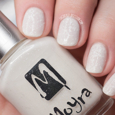 Moyra Sea Salt Pearl Drop Swatch by Lacquered Obsession