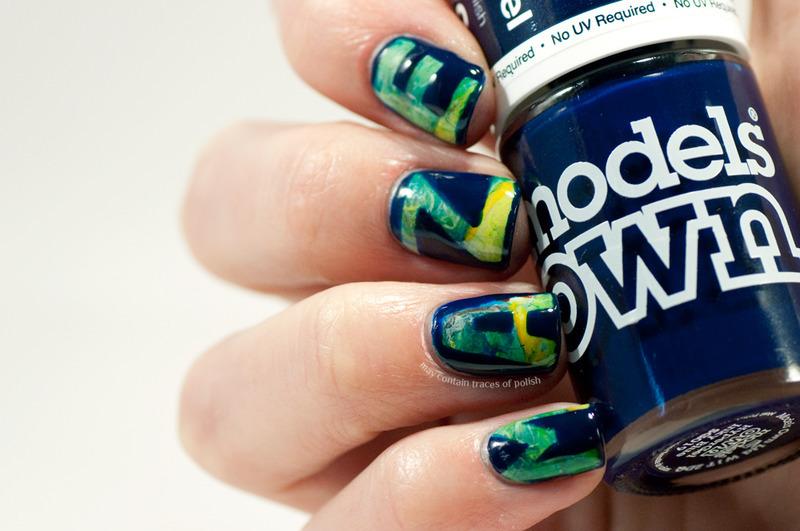 Maze runner inspired nail art nail art by Zara TracesOfPolish