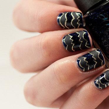 Fashion inspired nail art nail art by Zara TracesOfPolish