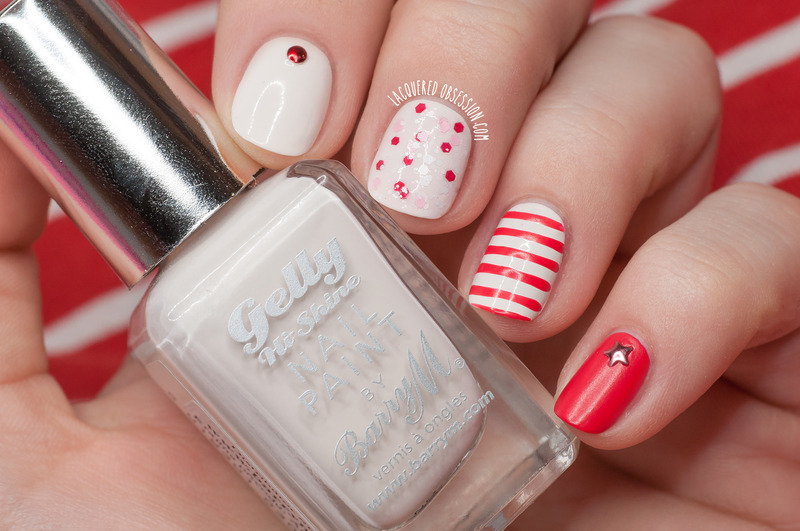 Coconut 'n' Copacabana nail art by Lacquered Obsession
