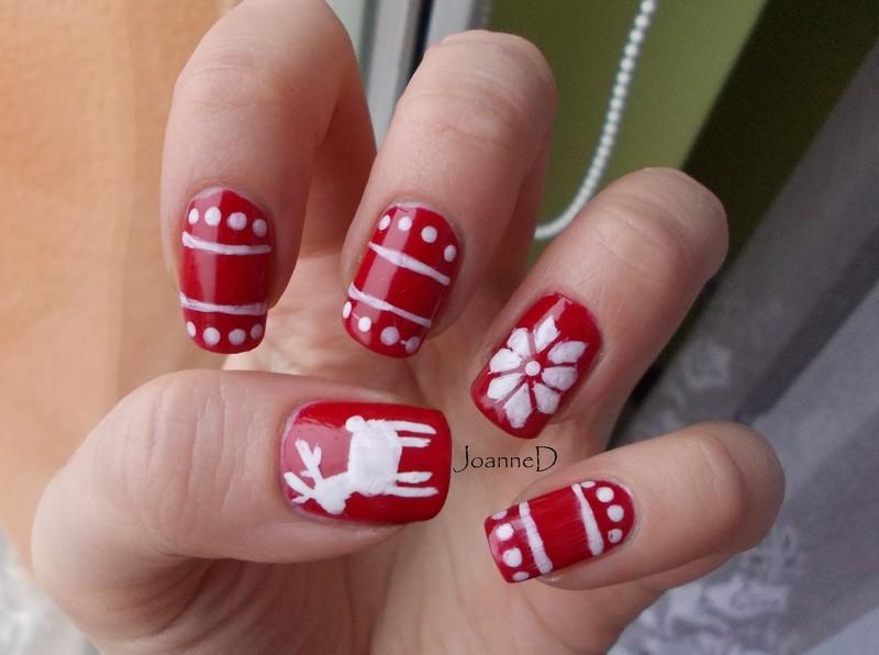 Norwegian winter nail art by JoanneD