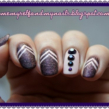 PURPLE SAND nail art by ELIZA OK-W