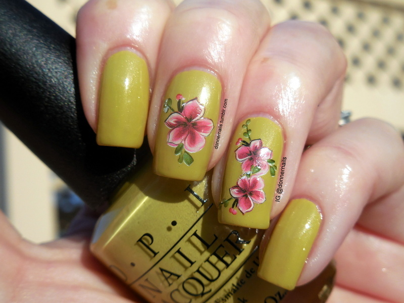 Spring nail art by Donner