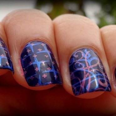 Starry Nights nail art by Nicky