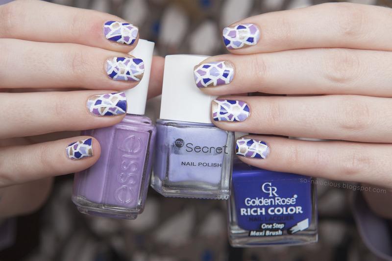 Mosaic nail art by Magdalena