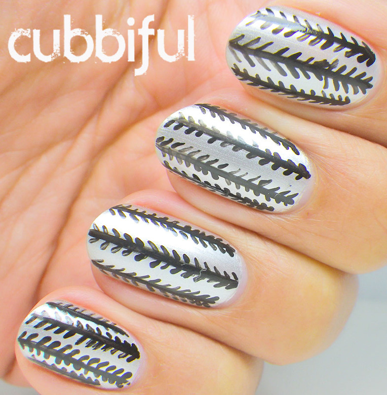 Silver Herringbone Nails Nail Art By Cubbiful Nailpolis Museum Of