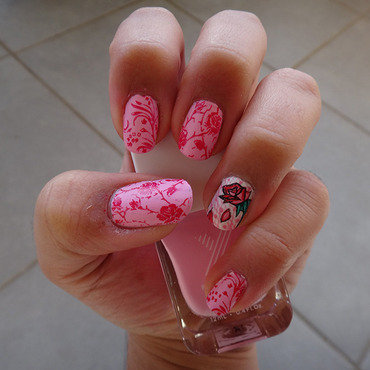 rose nail art by Cathy Neves