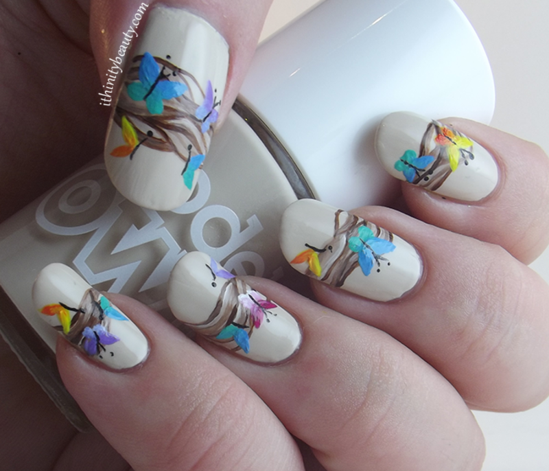 Follow The Butterflies... nail art by Ithfifi Williams