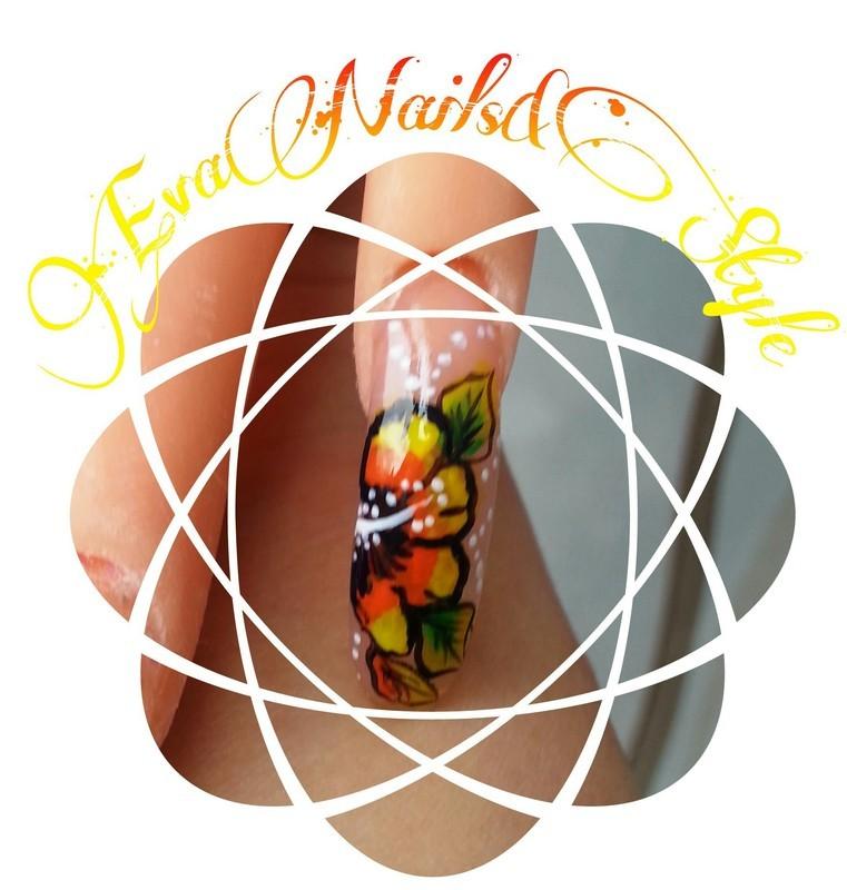 Flower nail art by Ewa EvaNails