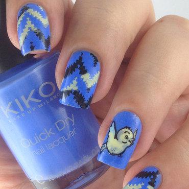 Bird Nails nail art by Natasha