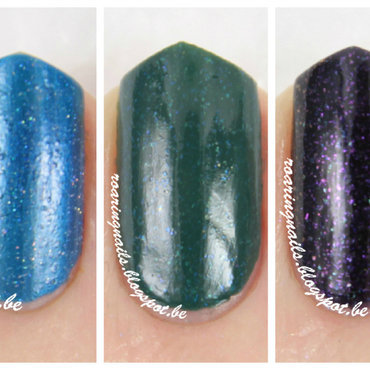 Catrice Petrolpolitan, OPI Blue Chips, and Essence Alice Had A Vision - Again Swatch by Robin