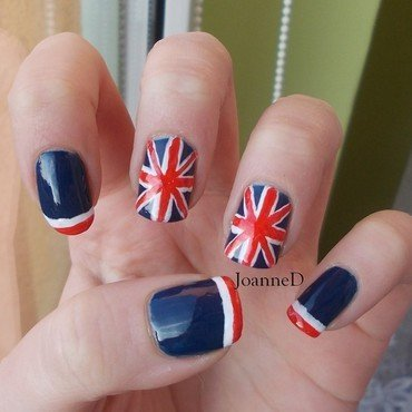 Union Jack nail art by JoanneD