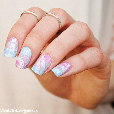 Pastel aztec nails nail art by Olaa
