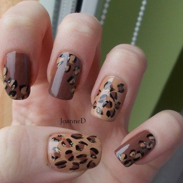 Leopard print nail art by JoanneD