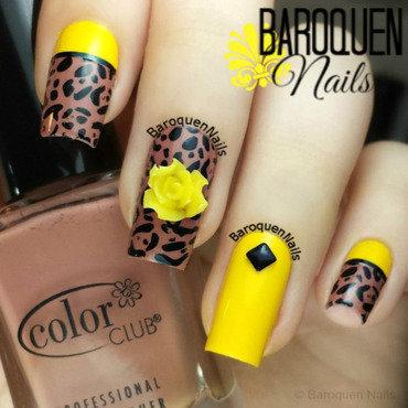 Yellow Leopard II nail art by BaroquenNails