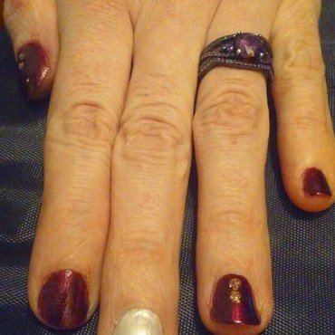 easy peasy hearts a squezzy  nail art by Jerel Dalrymple