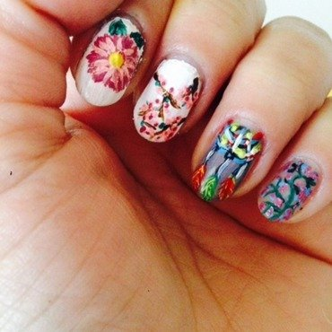 multi nail art by Tatti