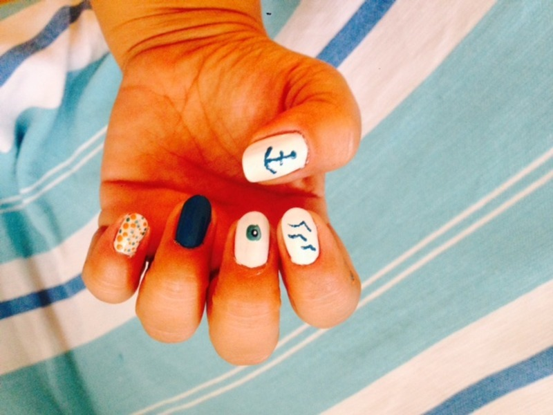 summer nail art by Tatti