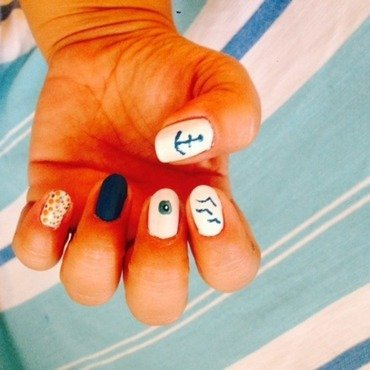 summer nail art by Tatti