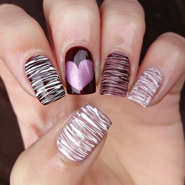 Spun sugar manicure nail art by Sanela