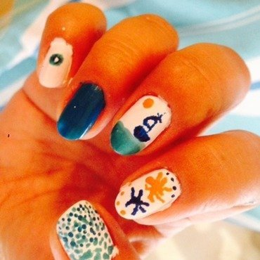 Summer in Greece nail art by Tatti