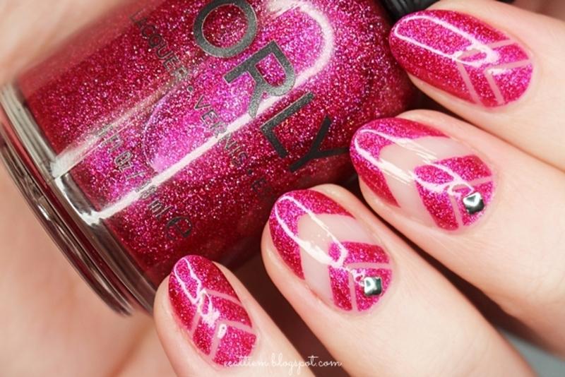 Cut Out In Pink Nail Art By Ecattiem Nailpolis Museum Of Nail Art