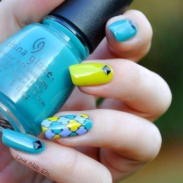 Blue for spring nail art by Love Nails Etc
