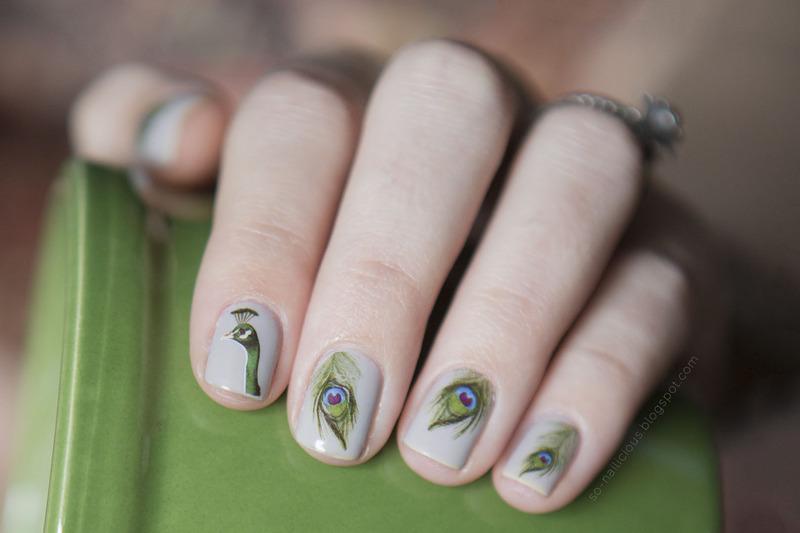Peacock nail art by Magdalena