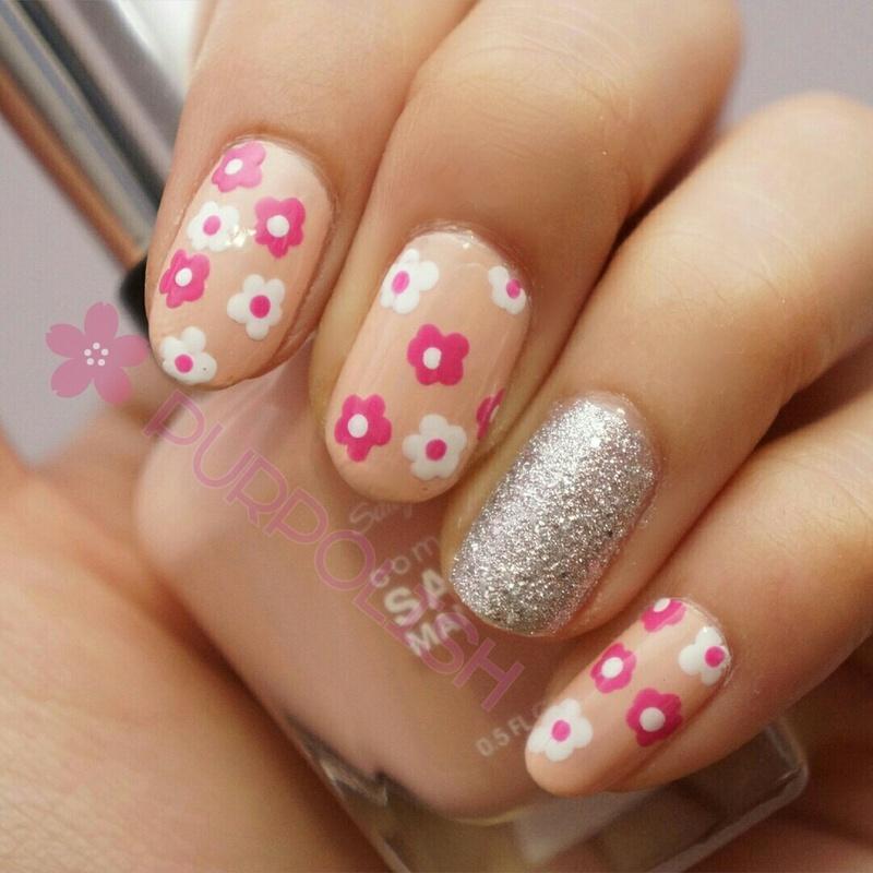 Cute Spring Floral Nails nail art by purpolish