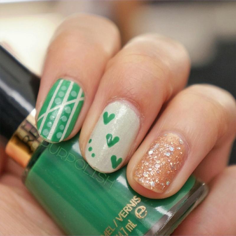 St. Patrick's Day Nails nail art by purpolish