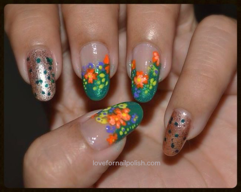 Spring flower nail design nail art by demi nailpolis museum of spring flower nail design nail art by demi mightylinksfo