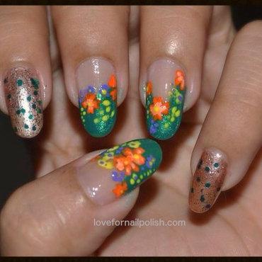 Spring Flower Nail Design nail art by Demi