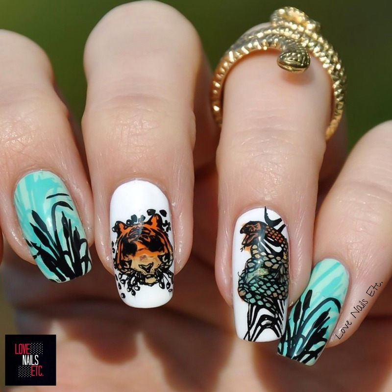 The Jungle Book nail art by Love Nails Etc