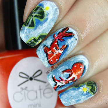 Fishy Nail art nail art by Charlie Bourdeau