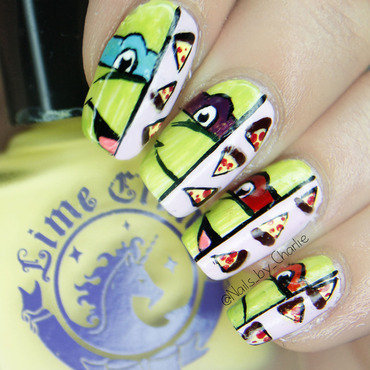 Teenage Mutant Ninja Turtle! nail art by Charlie Bourdeau