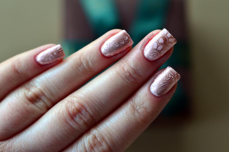 Rose Gold #2 nail art by 9th Princess